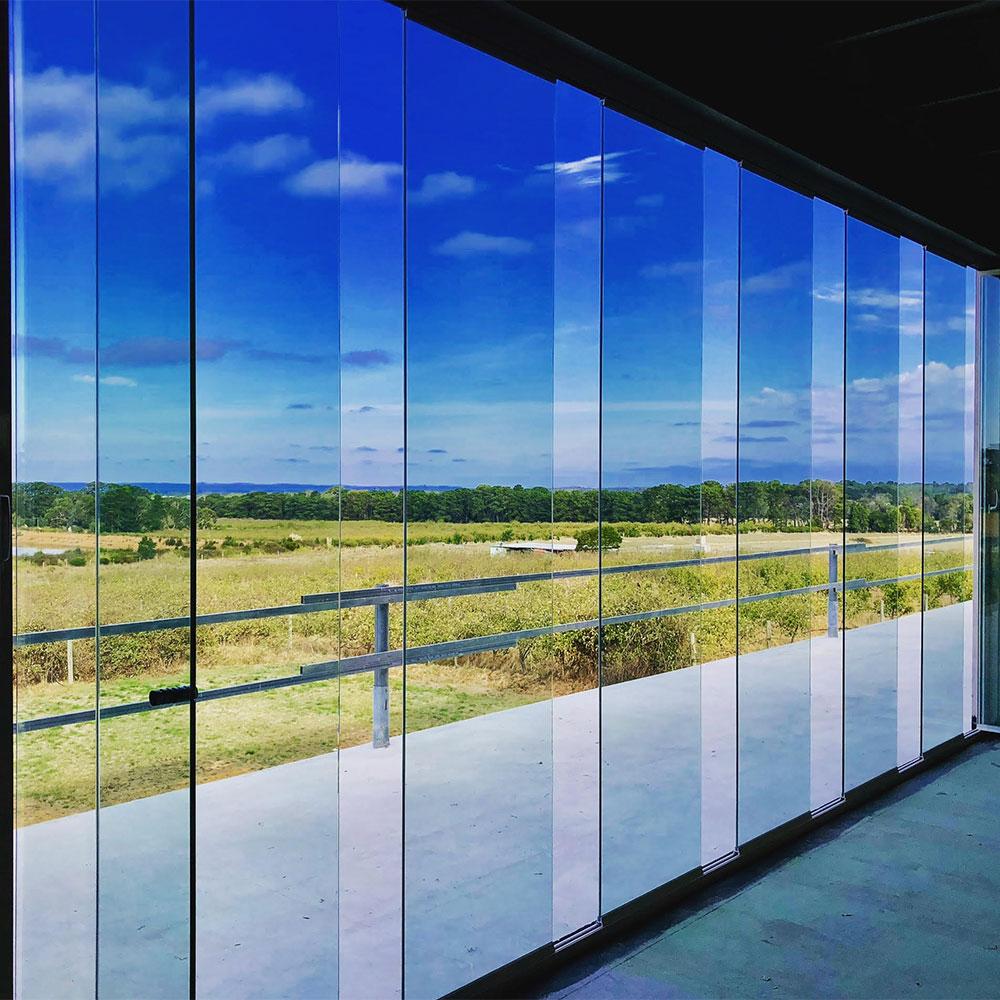 stackable glass door